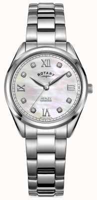 Rotary 女性のヘンリー|ステンレスブレスレット|ダイヤモンドセットダイヤル LB05110/07/D