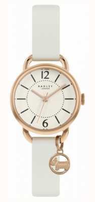 Radley |女性の白い革ストラップ|シャンパンダイヤル| RY2984