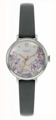 Radley |女性の黒革ストラップ|花柄ダイヤル| RY2979