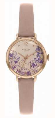 Radley |女性の裸革ストラップ|花柄ダイヤル| RY2980