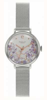 Radley |女性のスチールメッシュブレスレット|花柄ダイヤル RY4523