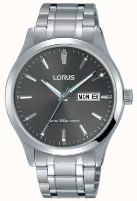 Lorus メンズステンレススチールブレスレットグレーダイヤル RXN35DX9