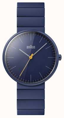 Braun メンズ|クラシック|ブルーセラミックブレスレット|青い文字盤 BN0171NVNVG