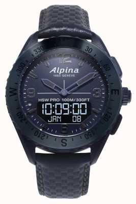 Alpina アルピナークス スペース版 スマートウォッチ ブルーレザーストラップ AL-283SEN5NAQ6