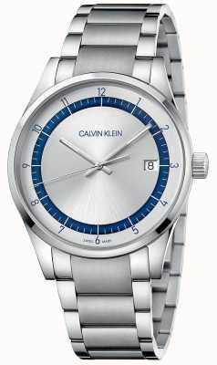Calvin Klein |完了|ステンレスシルバーブレスレット|シルバーダイヤル KAM21146