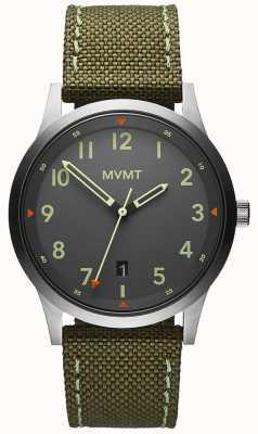 MVMT メンズ|フィールド|緑のキャンバスストラップ|グレーの文字盤 28000014-D