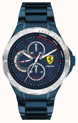 Scuderia Ferrari |メンズピスタ|ブルーイオンメッキスチールブレスレット|ブルーダイヤル 0830759
