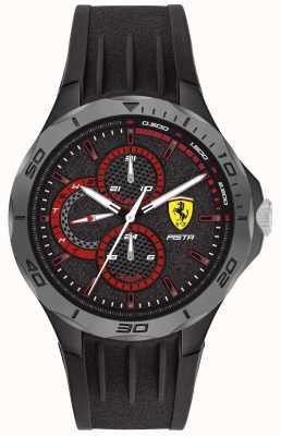 Scuderia Ferrari |メンズピスタ|ブラックラバーストラップ|ブラックダイヤル 0830725