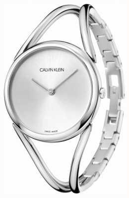 Calvin Klein |女性|ステンレススチールブレスレット|シルバーダイヤル| KBA23126