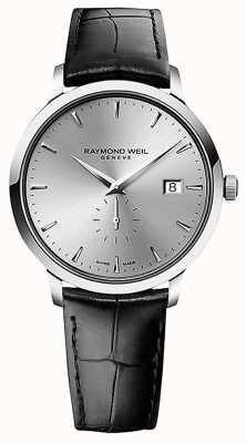 Raymond Weil メンズ|トッカータ|黒革ストラップ|シルバーダイヤル 5484-STC-65001