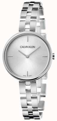 Calvin Klein エレガンス|ステンレス鋼のブレスレット|シルバーダイヤル KBF23146
