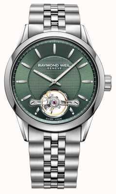 Raymond Weil メンズ|フリーランサー|自動|緑の文字盤| 2780-ST-52001