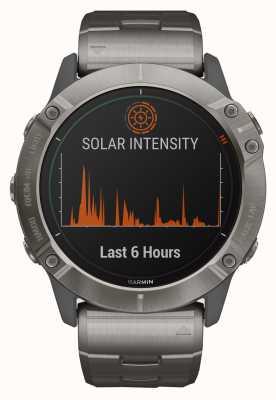 Garmin Fenix 6x pro solar  チタンブレスレットとオレンジストラップ 010-02157-24