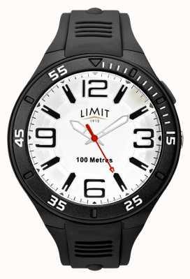 Limit メンズブラックラバーストラップ|白い文字盤 5796.65