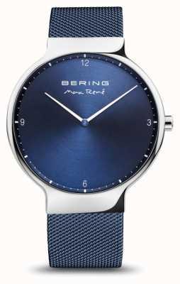 Bering マックス・レネ|ポリッシュシルバー|ブルーメッシュストラップ 15540-307