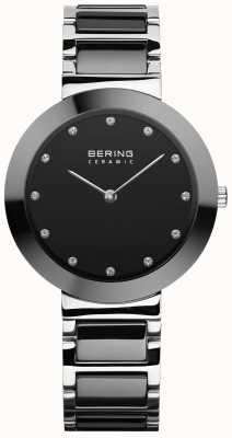 Bering 女性用セラミック|ブラックセラミックブレスレット|黒文字盤 11434-742