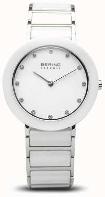 Bering 女性用セラミック|ホワイトセラミックブレスレット|白い文字盤 11434-754