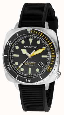Briston クラブマスターダイバープロスチール|黒のラバーストラップ|黒文字盤 20644.S.DP.34.RB