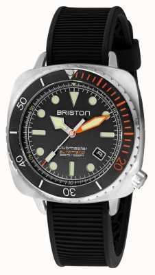 Briston クラブマスターダイバープロスチール|黒のラバーストラップ|黒文字盤 20644.S.DP.35.RB