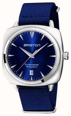 Briston クラブマスターアイコニックオート|ブルーNATOストラップ|ブルーダイアル 19640.PS.I.9.NNB