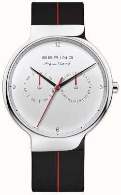 Bering マックス・レネ|黒のラバーストラップ|シルバー文字盤 15542-404