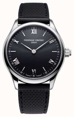 Frederique Constant メンズ|活力|スマートウォッチ|黒の文字盤|黒いゴム FC-287B5B6