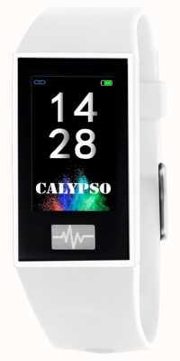 Calypso ユニセックス| smartime |白いシリコンストラップ+フリーストラップ K8500/1