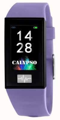 Calypso ユニセックス| smartime |紫色のシリコンストラップ+フリーストラップ K8500/2