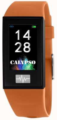 Calypso ユニセックス| smartime |オレンジのシリコンストラップ+フリーストラップ K8500/3
