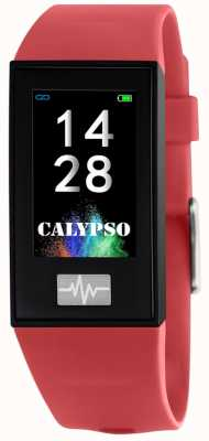 Calypso ユニセックス| smartime |赤いシリコンストラップ+フリーストラップ K8500/4
