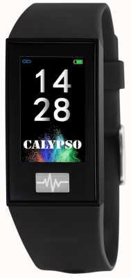 Calypso ユニセックス| smartime |黒のシリコンストラップ+フリーストラップ K8500/6