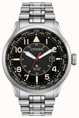Citizen メンズプロマスターナイトホークステンレススチールブラックダイヤルウォッチ BX1010-53E