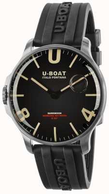 U-Boat Darkmoon44mmラバーストラップステンレススチール 8463