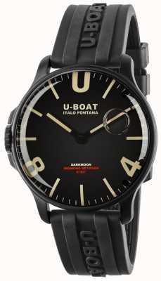 U-Boat ダークムーン44mmブラックIPB |ラバーストラップ 8464-BLACK