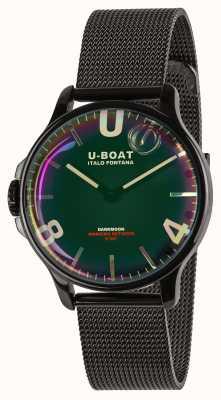U-Boat ダークムーン38mm |ブラックメッシュブレスレット|レインボーダイヤル 8470/MT