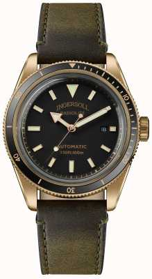 Ingersoll スコビル|時計ワインダー|オリーブグリーンストラップブラックダイヤル I05007