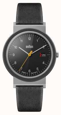 Braun メンズクラシックブラックダイヤルブラックレザーストラップ AW10EVO