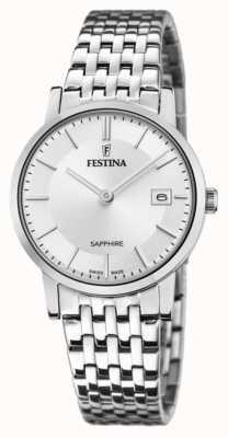 Festina 女性のスイス製|ステンレス鋼のブレスレット|シルバーダイヤル F20019/1