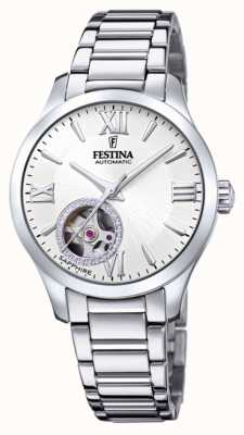 Festina 女性の自動|ステンレス鋼のブレスレット|シルバーダイヤル F20488/1