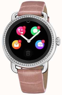 Festina Smartime |ピンクのレザーストラップ|カラースクリーン|追加のスネークプリントストラップ F50000/2