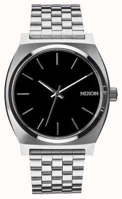 Nixon タイムテラー|黒|ステンレス鋼のブレスレット|ブラックダイヤル A045-000-00