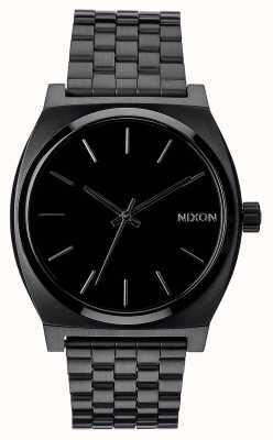 Nixon タイムテラー|オールブラック|ブラックIPスチールブレスレット|黒の文字盤 A045-001-00