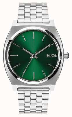 Nixon タイムテラー|緑の日差し|ステンレス鋼のブレスレット|緑の文字盤 A045-1696-00