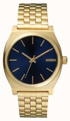 Nixon タイムテラー|オールライトゴールド/コバルト|ゴールドIPブレスレット|青い文字盤 A045-1931-00