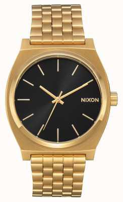 Nixon タイムテラー オールゴールド/ブラックサンレイ ゴールドIPブレスレット ブラックダイヤル A045-2042-00