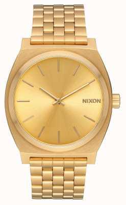 Nixon タイムテラー|オールゴールド/ゴールド|ゴールドIPブレスレット|ゴールドダイヤル A045-511-00