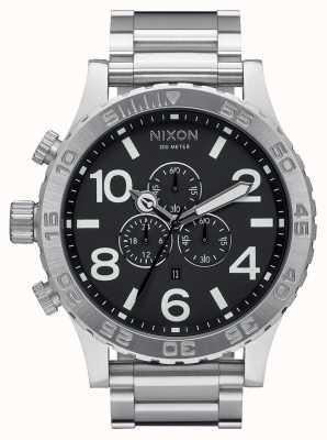 Nixon 51-30クロノ|黒|ステンレス鋼のブレスレット|黒の文字盤 A083-000-00