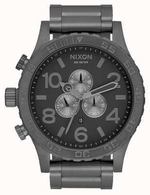 Nixon 51-30クロノ|すべてのガンメタル|ガンメタルスチールブレスレット|ガンメタルダイヤル A083-632-00