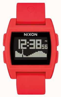 Nixon 基準潮 赤 デジタル 赤いシリコンストラップ A1104-200-00