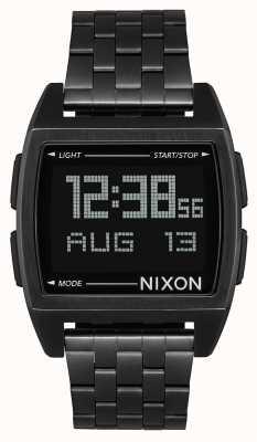 Nixon ベース|オールブラック|デジタル|ブラックIPスチールブレスレット| A1107-001-00